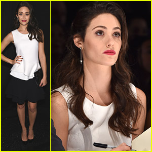 Emmy Rossum Walks 'Project Runway' Catwalk For New York Fashion Week Show