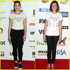 Hailee Steinfeld & Italia Ricci Step Up & Stand Up to Cancer 2014