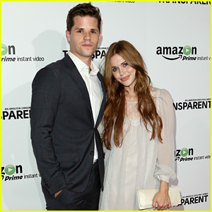 Photo of Max Carver & his friend actress  Holland Roden - Transparent