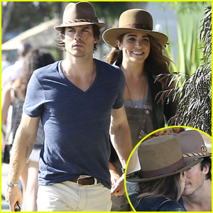 Ian Somerhalder & Nikki Reed Hold Hands & Kiss During Joan's on Third Lunch
