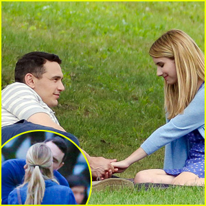 Emma Roberts Makes Out with James Franco for their Upcoming Movie 'Michael'