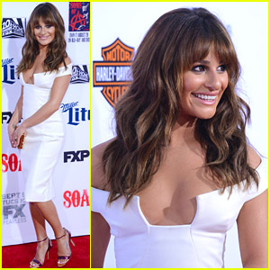 Lea Michele Sizzles At 'Sons Of Anarchy' Premiere