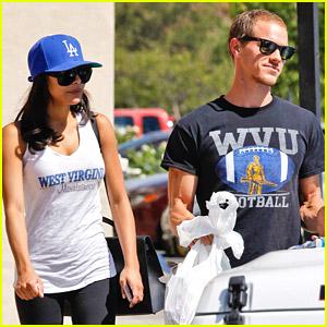 Naya Rivera & Husband Ryan Dorsey Root For WVU Mountaineers