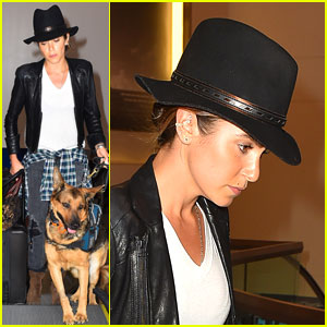 Nikki Reed Brings Her Pup Along to the Airport!