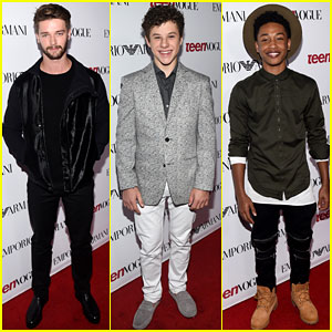 Patrick Schwarzenegger & Nolan Gould Make it a Boys Night at Teen Vogue's Young Hollywood Party 2014!