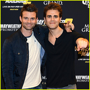 Paul Wesley & Daniel Gillies Keep the Bromance Alive at Vegas Fight