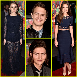 Kaitlyn Dever & Ansel Elgort Get All Dressed Up for 'Men, Women, & Children' LA Premiere!