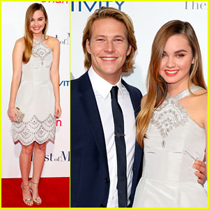 Liana Liberato & Luke Bracey Are Picture Perfect for 'Best of Me' Premiere!