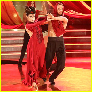 Bethany Mota & Derek Hough See Red During 'DWTS' Paso Doble - Peep the Pics!