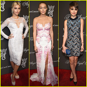 Hailey Baldwin & Gigi Hadid Glam It Up To Support Cancer Research at Angel Ball 2014!