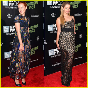 Jena Malone & Sasha Pieterse Bring Their Fashion A-Game to 'Inherent Vice' Premiere!