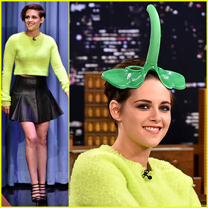 Kristen Stewart Wears an Elephant Mask on 'Fallon'