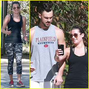 Lea Michele & Matthew Paetz Are Filled with 'Glee' on Hike