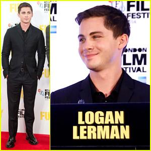 Logan Lerman Heads To London For 'Fury'