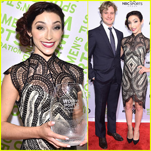 Meryl Davis Honored As Sportswoman Of The Year at Salute To Women Awards 2014!