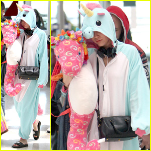 Only Miley Cyrus Can Pull Off Wearing a Unicorn Onesie