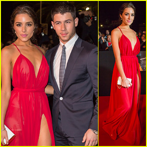 Nick Jonas & Girlfriend Olivia Culpo Make Their Entrance at Mipcom's Opening Night Party 2014!