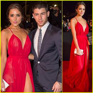 Nick Jonas & Girlfriend Olivia Culpo Make Their Entrance at Mipcom's Opening Night Party 2014!