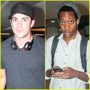 The Vampire Diaries' Michael Trevino & Tyler James Williams Arrive Back In La-La Land