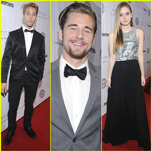 Austin North & Luke Benward Suit Up For The Unlikely Heroes Dinner & Gala
