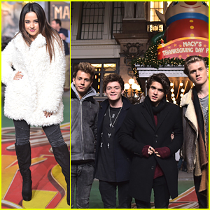 Becky G & The Vamps Get Ready For Macy's Thanksgiving Day Parade