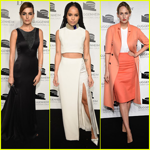 Camilla Belle & Zoe Kravitz Step Out in Style at Guggenheim International Gala Dinner 2014