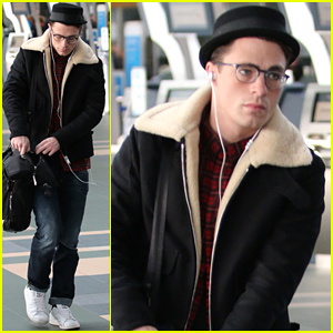 glasses just for fashion  Colton Haynes Is Looking Very Cute Wearing His Eyeglasses