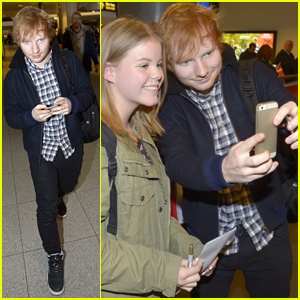 Ed Sheeran Arrives in Copenhagen After His New One Direction Song '18' Drops