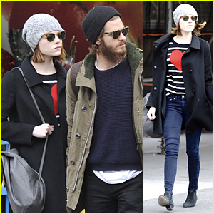 Emma Stone & Andrew Garfield Look Like a Couple Before 'Cabaret' Performance