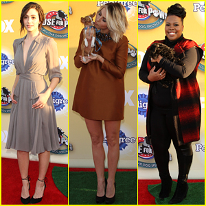 Emmy Rossum & Julianne Hough Cuddle Up with Adorable Pups at Cause for Paws!