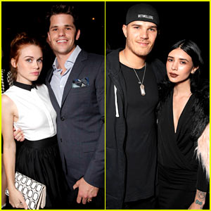 Holland Roden & Max Carver Couple Up at Just Jared's Homecoming Dance!