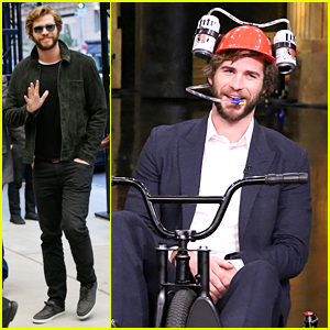 Liam Hemsworth Competes in Tricycle Race on 'Tonight Show'