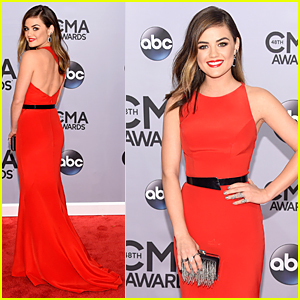 Lucy Hale Gets Her Hair Cut Before Before 2014 CMAs