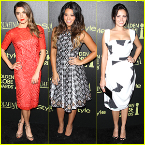 Nikki Reed & Gina Rodriguez Celebrate Golden Globes 2015 With Italia Ricci