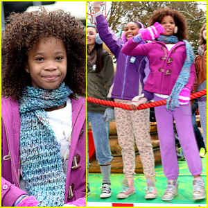 Quvenzhane Wallis Has a 'Hard Knock' Time at Thanksgiving Day Parade!
