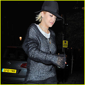 Rita Ora Meshes Well in London - Tres Chic!