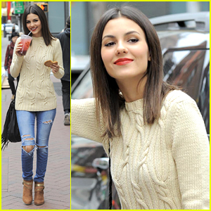 Victoria Justice Keeps Working On 'Eye Candy' In Cool Weather