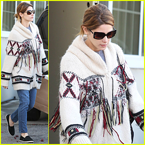 Ashley Greene Stops By Sony Studios After It Gets Hacked