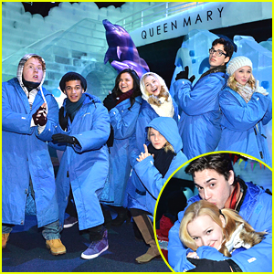 Dove Cameron & Ryan McCartan Cuddle Up At Queen Mary's CHILL & Ice Kingdom E