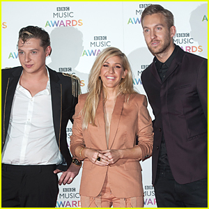 Ellie Goulding Gets Surrounded By Calvin Harris & John Newman at BBC Music Awards 2014