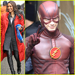 Grant Gustin & Candice Patton Film More 'Flash' Before Holiday Break