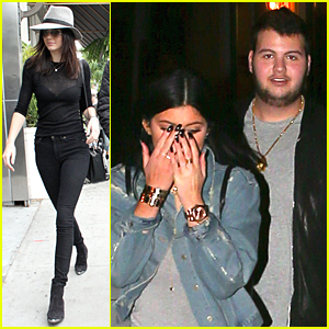 Kendall Jenner Flashes Bra in Sheer Black Top During Brunch Outing