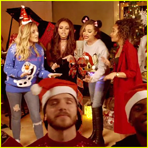 Little Mix Have A Christmas Party In New 'Baby Please Come Home' Cover Vid