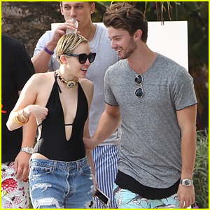 Miley Cyrus & Patrick Schwarzenegger Hit Up Miami Pool with Pal Cody Simpson