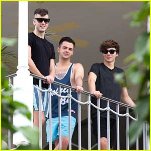Union J Are Balcony Boys in Barbados