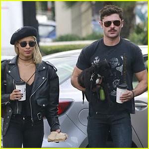 Zac Efron & Sami Miro Bring Cute Puppy to Lunch Date