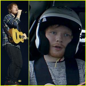 Watch Ed Sheeran Race a Car on BBC's 'Top Gear'!