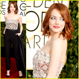 Emma Stone Brings Her Brother to Golden Globes 2015