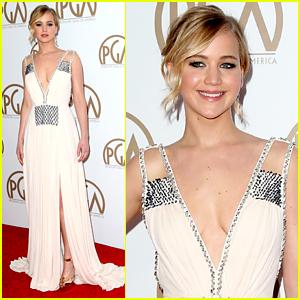Jennifer Lawrence Helps Honor Lionsgate CEO at PGA Awards!