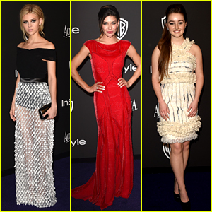Nicola Peltz & Kaitlyn Dever Are Totally In Style at Golden Globes Party 2015!